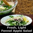 Fresh, light fennel apple salad